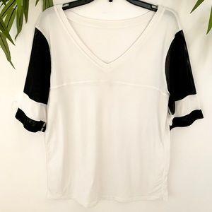 Lululemon mesh t shirt.